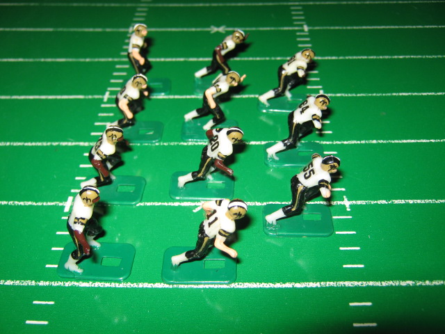 tudor electric football team NEW ORLEANS SAINTS WHITE JERSEY