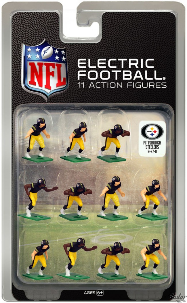 tudor electric football team PITTSBURGH STEELERS DARK JERSEY