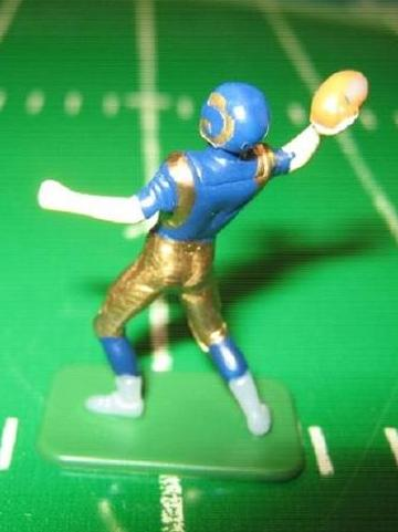 tudor electric football quarterback figure ST LOUIS RAMS dark