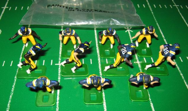tudor electric football team SAN DIEGO CHARGERS DARK JERSEY HA76