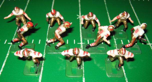 TUDOR ELECTRIC FOOTBALL GAME San Francisco 49ers Team White HK71CL