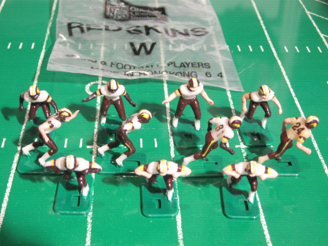 TUDOR ELECTRIC FOOTBALL GAME Washington Redskins White HK81