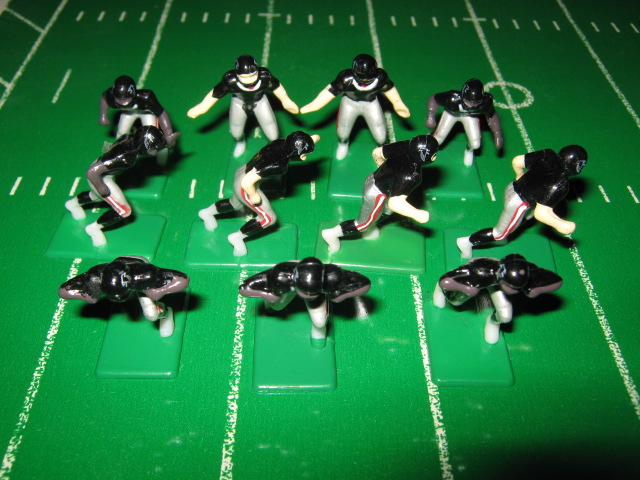 655 Atlanta Falcons ELECTRIC FOOTBALL TEAM Dark Jersey China Stamped Helmet SEALED