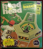 coleco head-to-head baseball handheld electronic game boxed