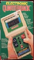coleco electronic quarterback handheld football games