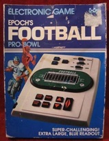 epoch pro bowl football handheld electronic game loose