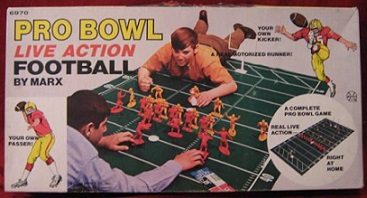 marx all pro live action football board game