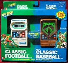 mattel classic football/baseball combo games