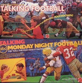 mattel talking football electric board game