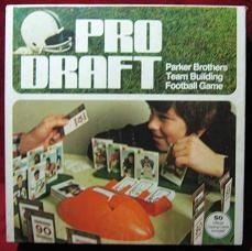 parker brothers pro draft football board game