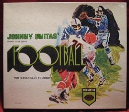 pro mentor johnny unitas football board game