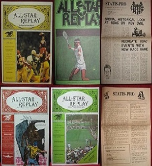 ALL STAR REPLAY and MIDWEST RESEARCH STATIS PRO MAGAZINES