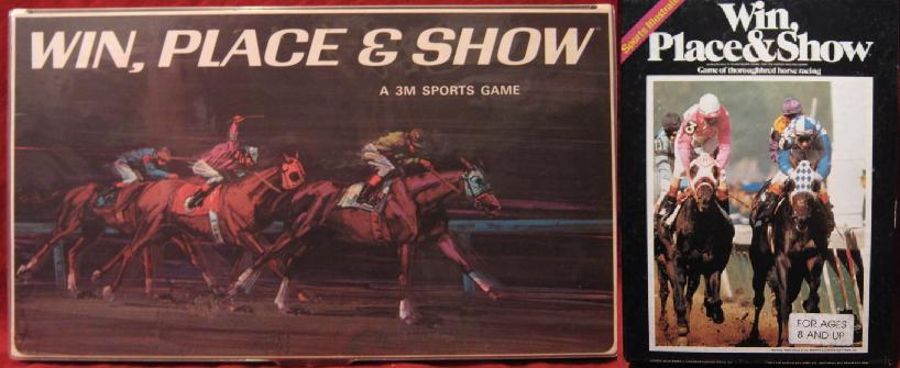 3M win place and show horse race board game - sports illustrated - avalon hill