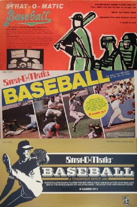 STRAT-O-MATIC BASEBALL GAMES