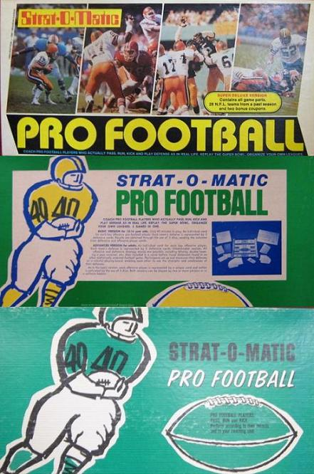 STRAT-O-MATIC FOOTBALL GAMES